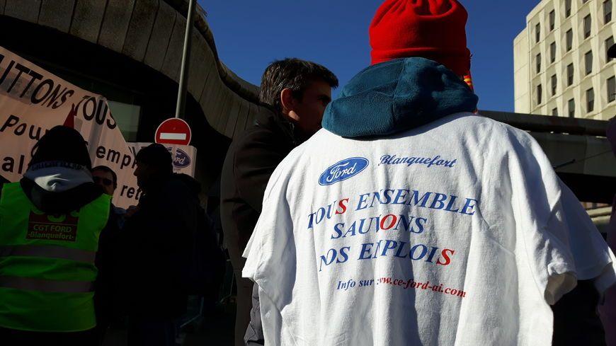 Manifestation des salariés de l'usine Ford de Blanquefort à Bordeaux le 23 janvier.