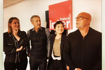 Charline Roux, Antoine de Caunes, Mélanie de Biasio et Jean-Baptiste Mondino