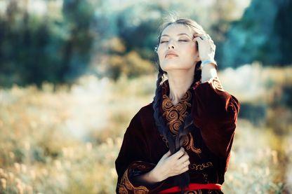 Femme chamane kazakh