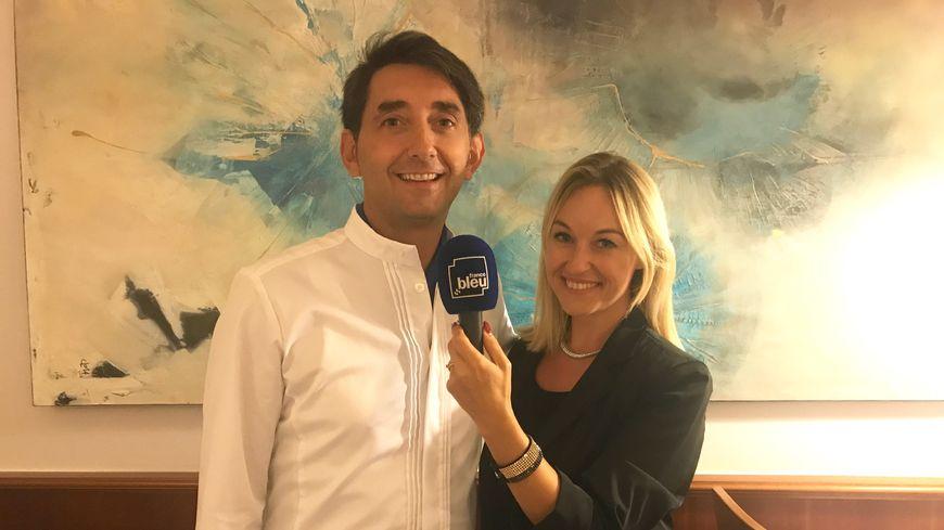 Le chef Bruno Cutrupi et Sandrine Kauffer