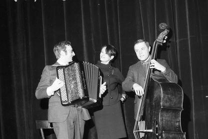 Barbara durant les répétitions du concert au Piccolo Teatro à Milan, le 7 février 1967