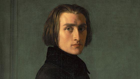 Portrait de Franz Liszt en 1838, par Henri Lehmann. Peinture exposée aujourd'hui au Musée Carnavalet de Paris.