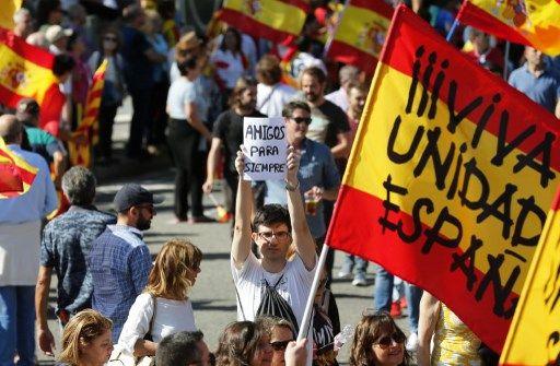 Entre 350.000 et un million de partisans de l'unité de l'Espagne, hier, dans une manifestation historique à Barcelone