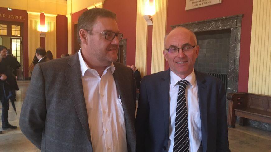 Marc Baerthelé, bâtonnier de Thionville et Marc Charret, bâtonnier de Metz unis contre les menaces qui pèsent sur la Cour d'Appel de Metz