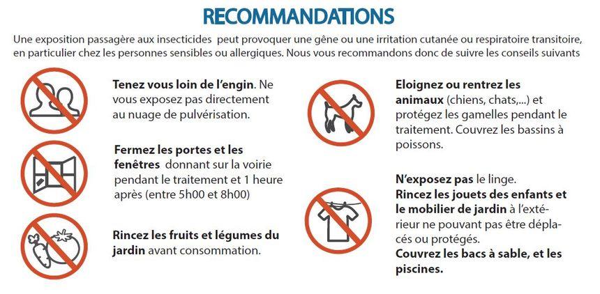 Recommandations de la préfecture des Landes avant l'opération de démoustication à Dax et Saint-Paul-lès-Dax, les 25 et 26 octobre.