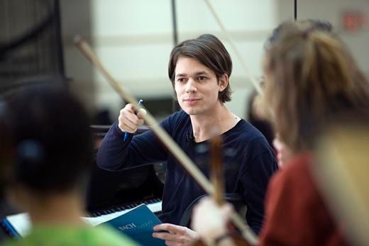 Le pianiste David Fray dans le film de Bruno Monsaigeon