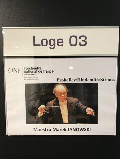 La loge du chef Marek Janowski