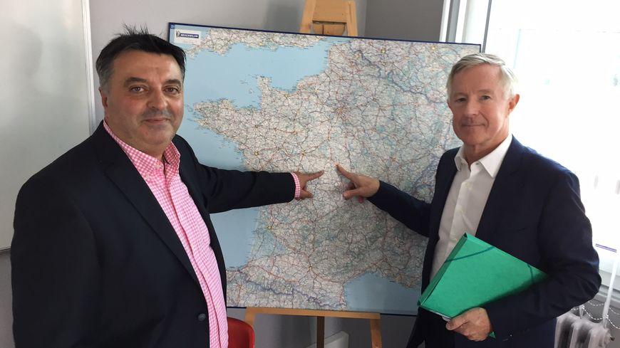 """Philippe Fournie (à gauche) et Dominique Roullet (à droite) veulent """"réunifier"""" le Berry."""