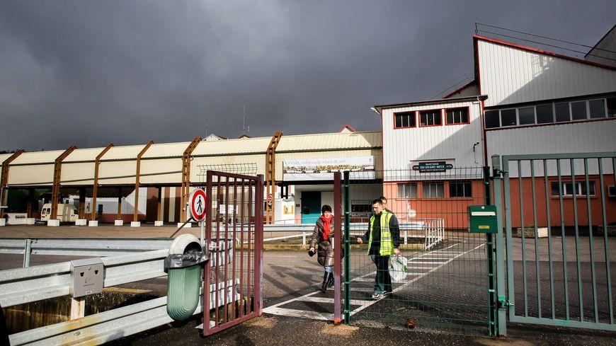 La papeterie UPM de Docelles dans les Vosges lors de la fermeture le 24 janvier 2014