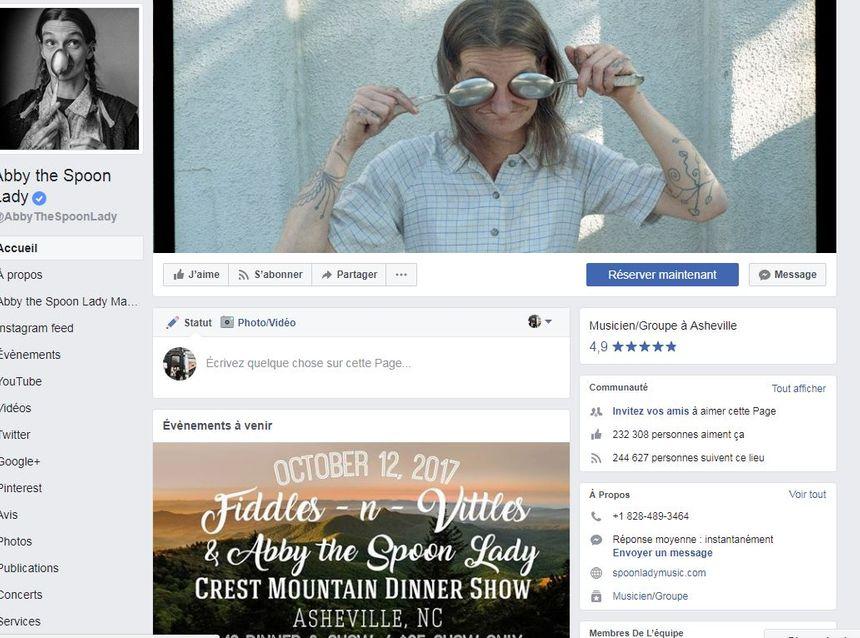 """""""Abby the Spoon Lady"""" a déjà une belle communauté de fans sur Facebook"""