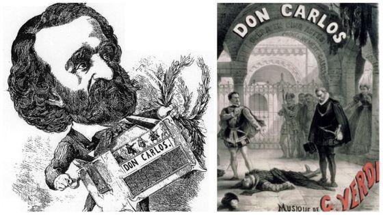 Il maëstro Verdi/ Affiche Don Carlos - 1867