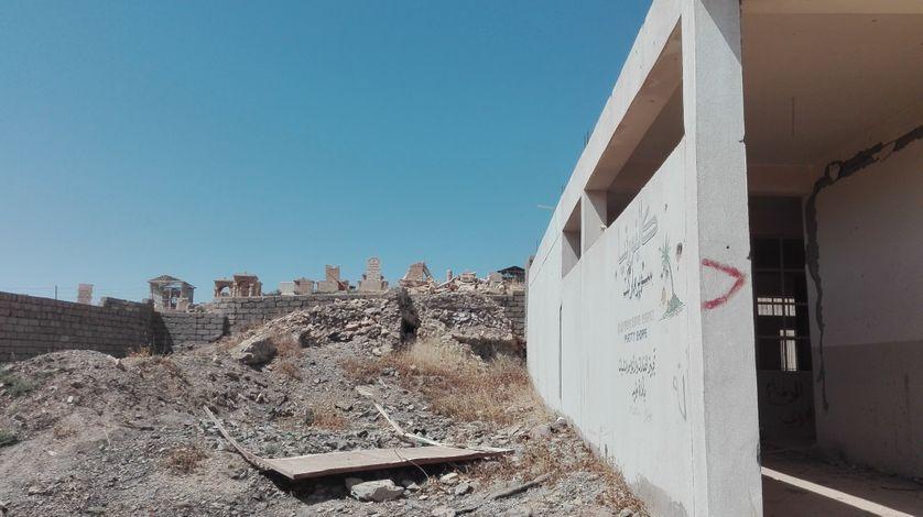 Batnaya détruite lors des combats contre l'Etat islamique qui a occupé le village pendant plus de deux ans
