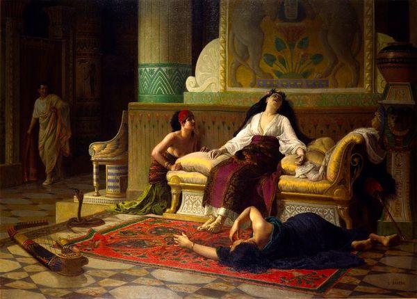 Louis-Marie Baader, (Lannion, 1828 – Morlaix, 1920), La mort de Cléopâtre, reine d'Égypte, Vers 1899, Huile sur toile, Rennes, musée des Beaux-Arts
