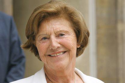 Monique Pelletier femme politique française, ancienne ministre et membre du Conseil constitutionnel français à Paris  le 12 juillet 2007