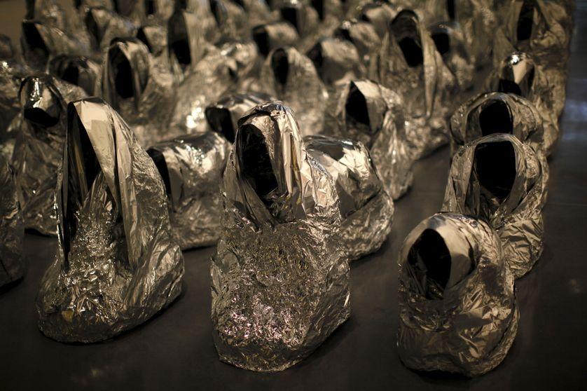 """""""Ghost"""", oeuvre de l'artiste Kader Attia"""