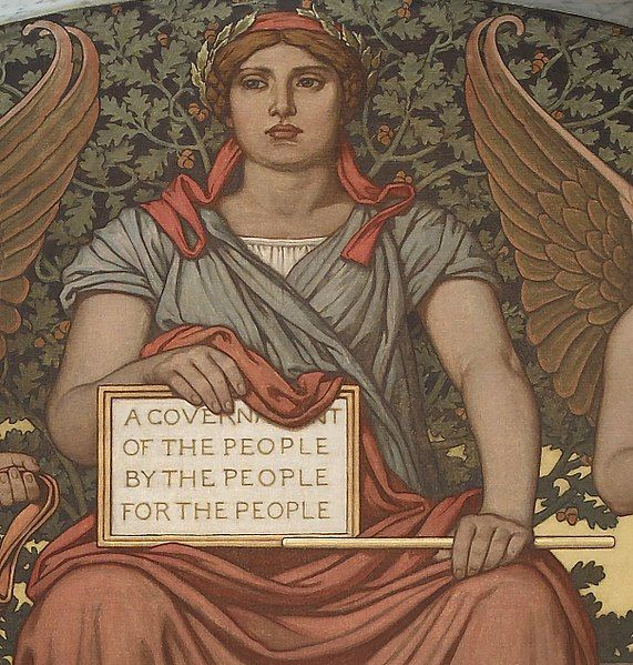 Detail from Government. Mural by Elihu Vedder. Lobby to Main Reading Room, Library of Congress Thomas Jefferson Building, Washington, D.C.