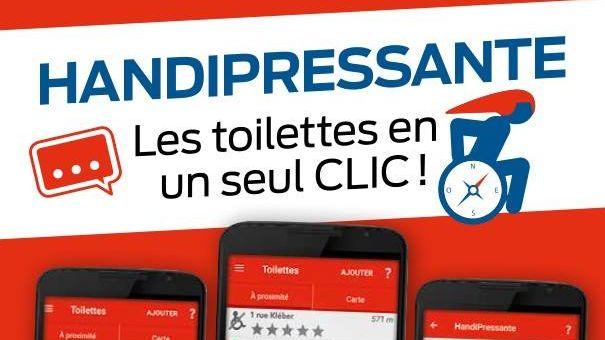 HandiPressante, l'application pour trouver des toilettes accessibles en un clic