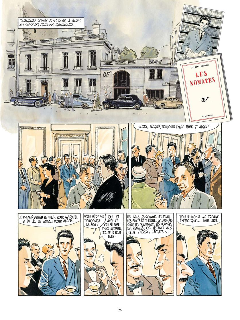 """Planche de """"Le premier homme"""" de Jacques Ferrandez"""
