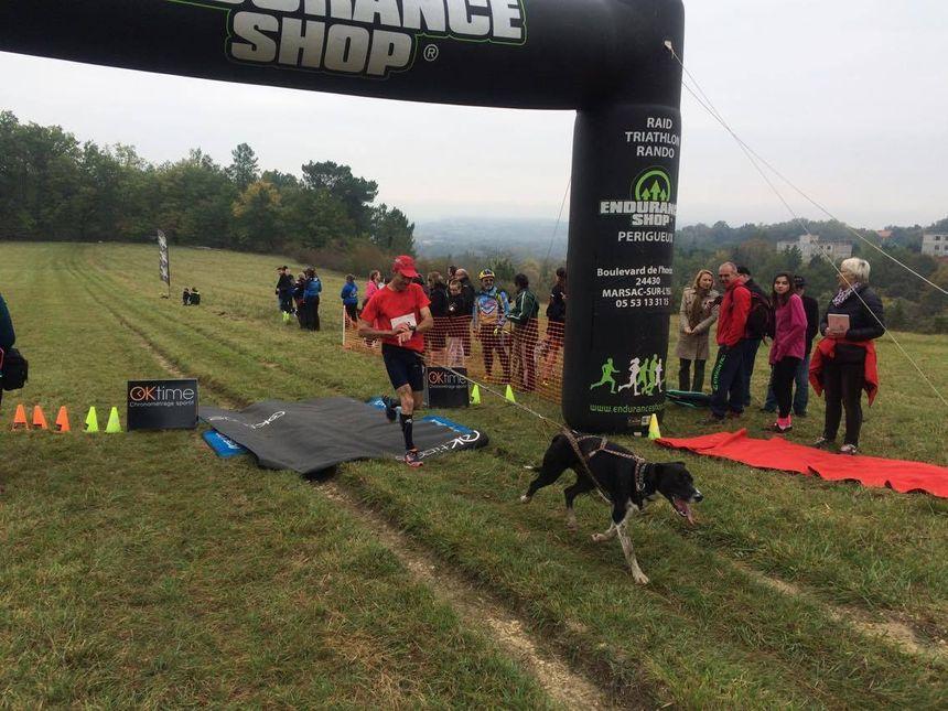 Chaque coureur est accroché à son chien grâce à un harnais