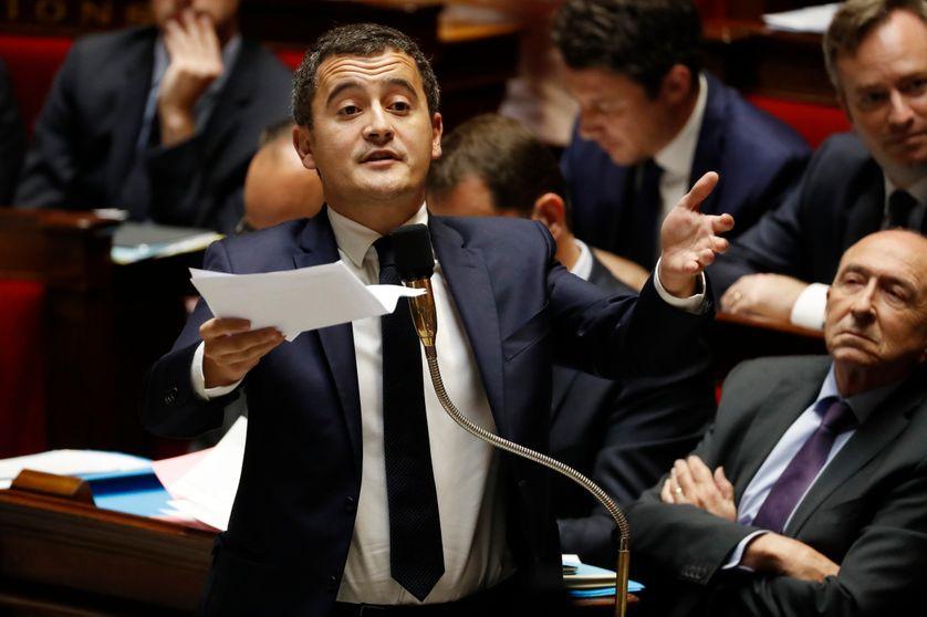 Gérald Darmanin à l'Assemblée nationale, le 17 octobre 2017.