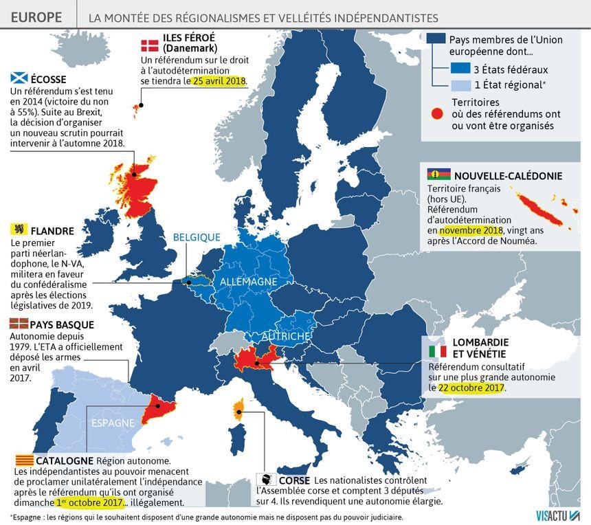 La montée des régionalismes et velléités indépendantistes