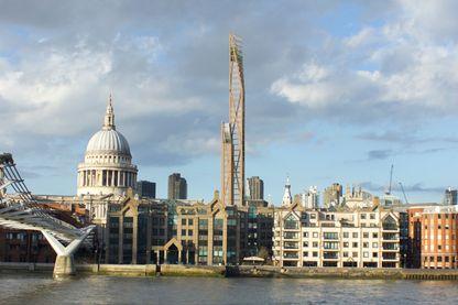 Le projet à Londres de l'Oakwood Timber Tower, immeuble de 315 mètres de hauteur en bois