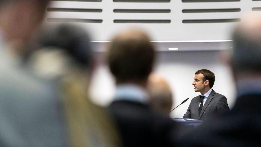 Emmanuel Macron devant la Cour européenne des droits de l'Homme, à Strasbourg.