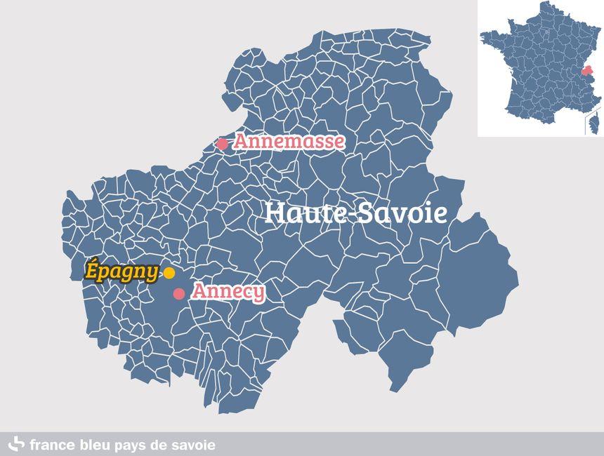 Épagny, sur la commune d'Annecy, en Haute-Savoie