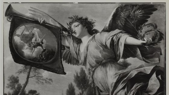 Ange annonçant la paix de Westphalie (?) / La Hyre