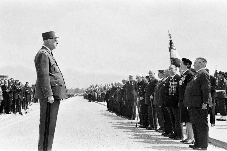 Charles de Gaulle en 1966 durant la cérémonie du 50ème anniversaire de la bataille de Verdun