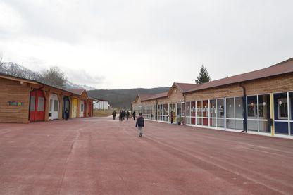 L'école temporaire d'Amatrice, remplacée aujourd'hui par une nouvelle