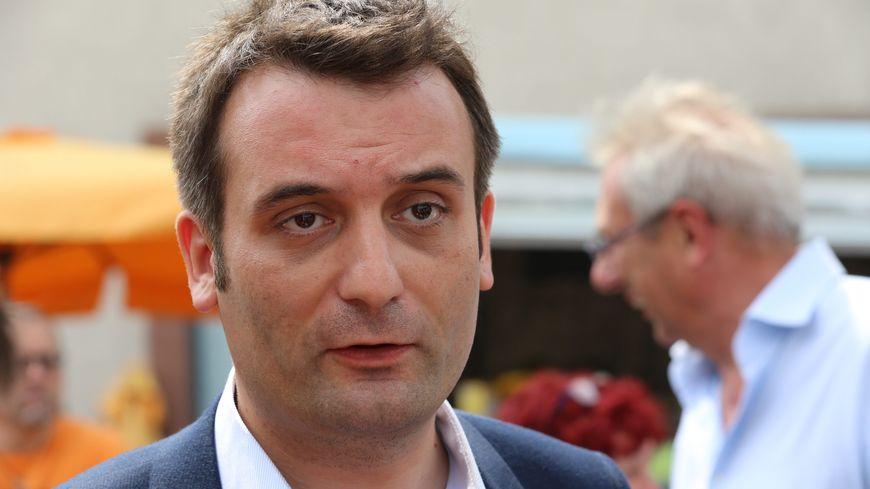 Florian Philippot à Forbach en mai 2017 pendant la campagne des législatives