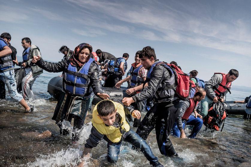 Réfugiés: l'arrivée à Lesbos, mai 2015