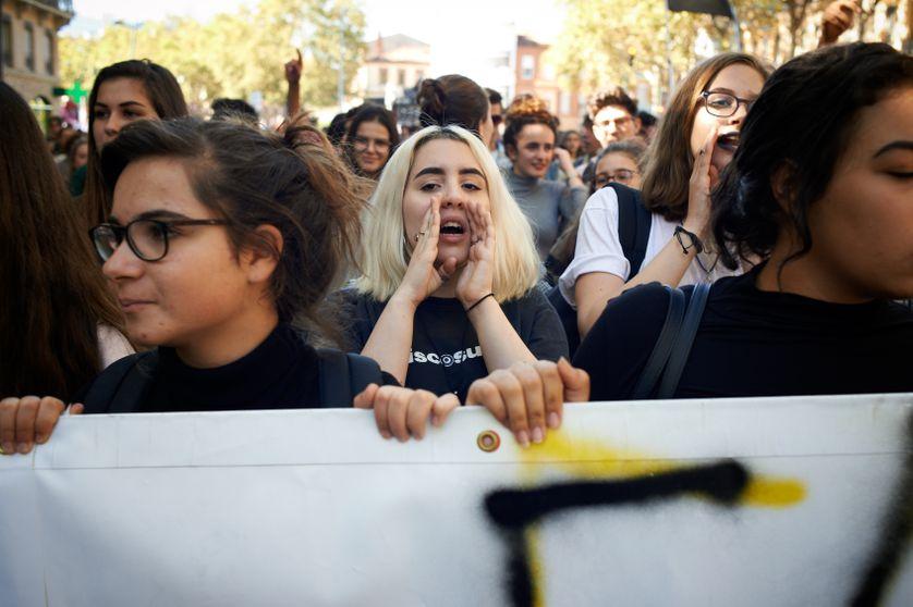 Manifestation contre les ordonnances sur le travail à Toulouse, le 10 octobre 2017.