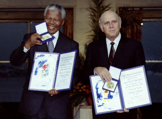 Mandela et De Klerk en 1993