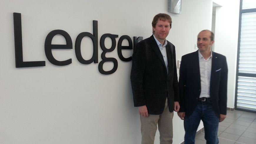 Les deux fondateurs de Ledger à Vierzon : Eric Larchevêque et Joël Pobeda