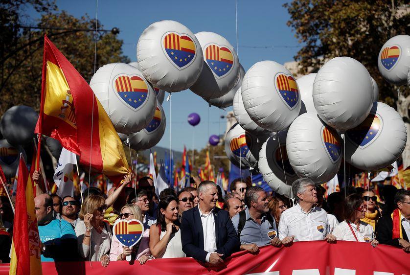 Manifestation des unionistes à Barcelone