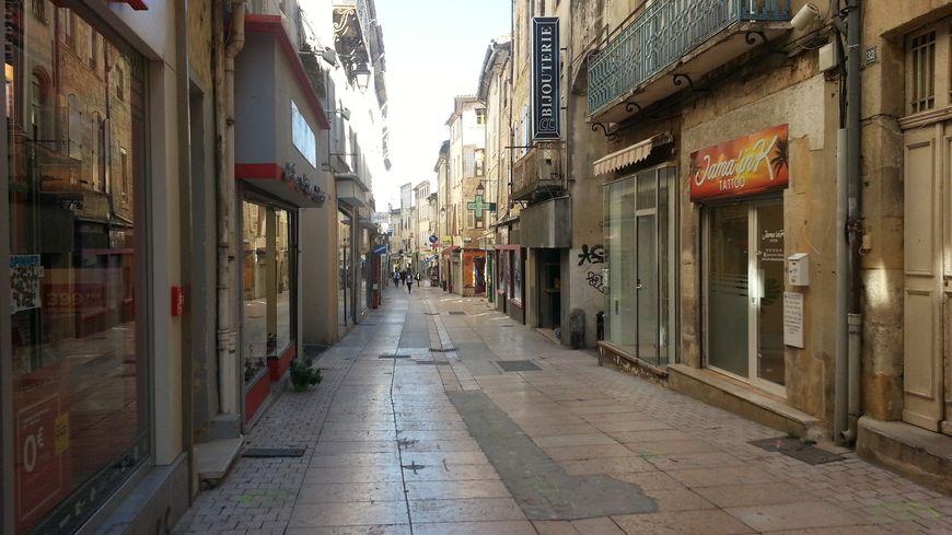 Rue de la République à Bagnols sur Céze