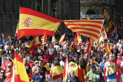 Manifestation à Barcelone des anti-indépendantistes