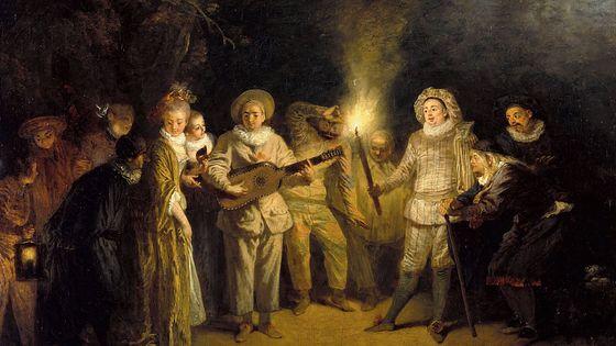 Jean Antoine Watteau, Les Comédiens italiens