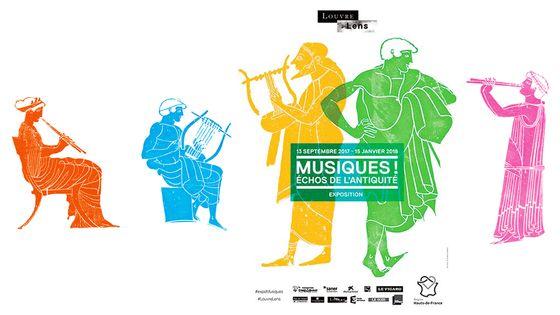 Visuel de l'exposition Musiques ! Echos de l'antiquité au Louvre-Lens