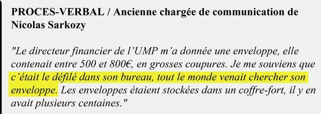 Extrait du procès-verbal de l'ancienne chargée de communication de Nicolas Sarkozy