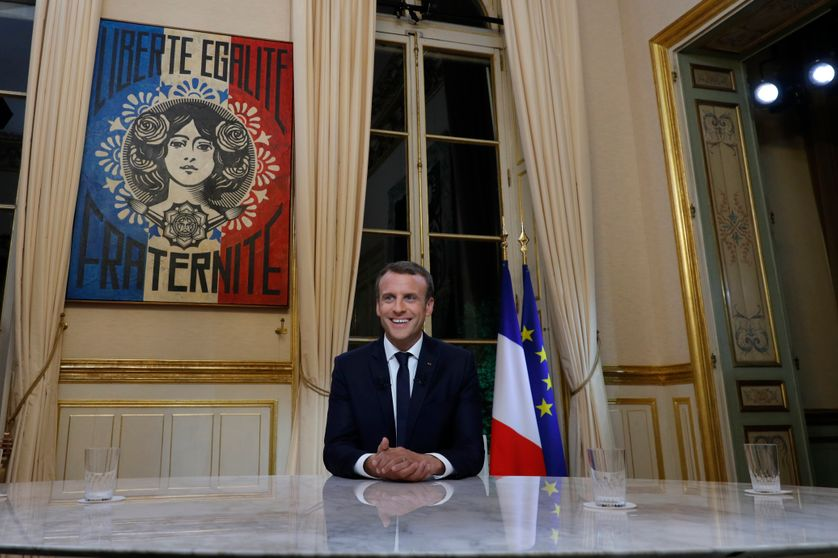 E. Macron à l'Elysée, 15/10/2017