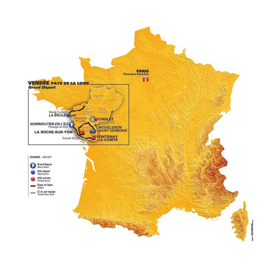 Les quatre premières étapes officielles du Tour de France 2018
