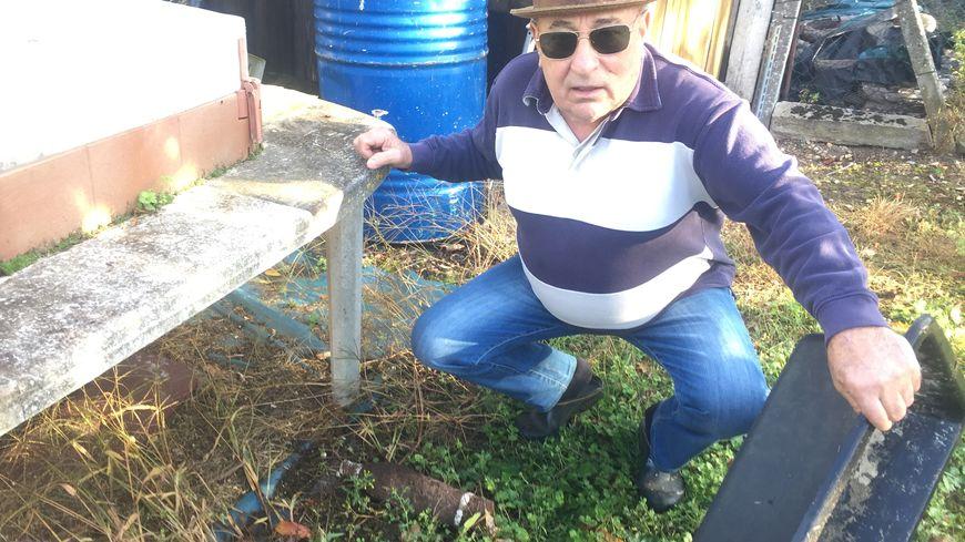 Jacques a retrouvé l'obus enterré dans son jardin.