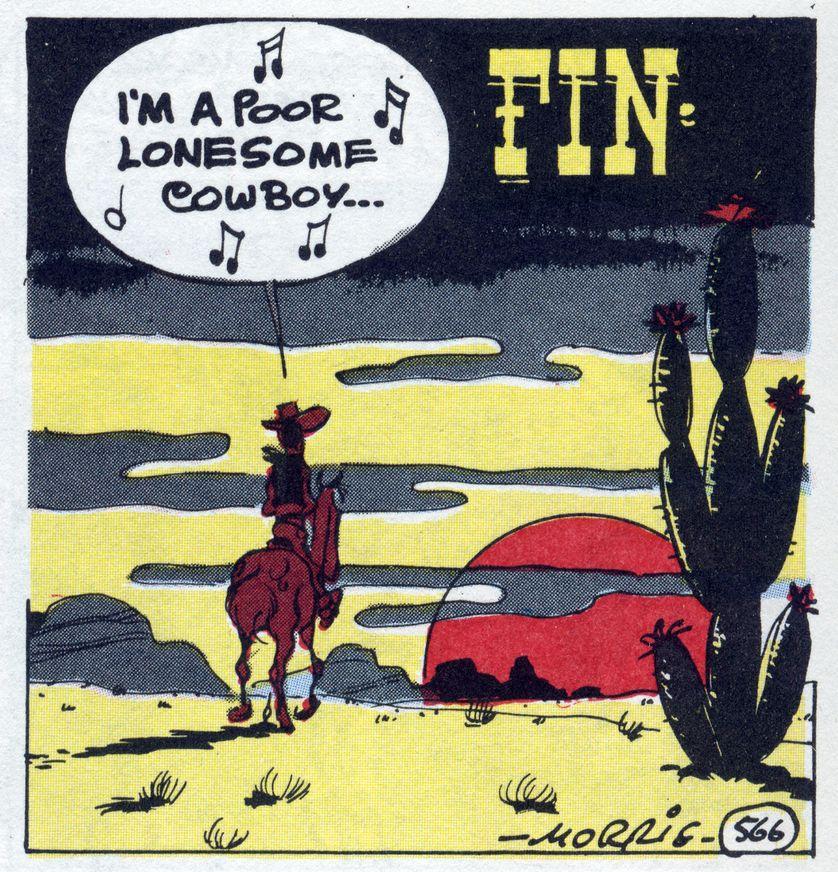 Une case de fin d'un album « I'm a poor lonesome cowboy »