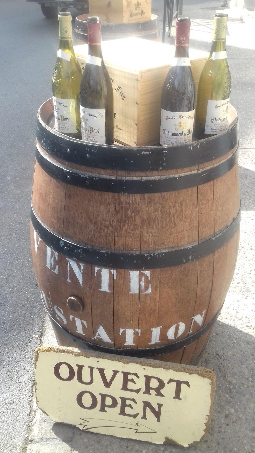 Des bouteilles de Châteauneuf-du-Pape