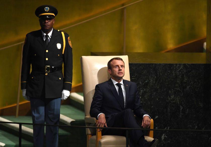Emmanuel Macron lors de l'Assemblée générale de l'ONU, en septembre 2017.