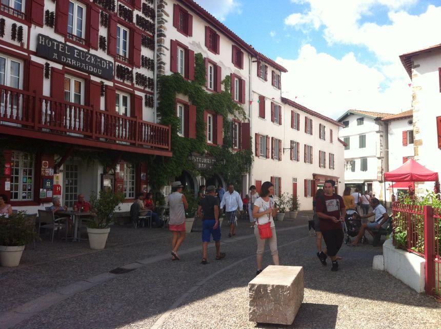 Le centre-ville d'Espelette