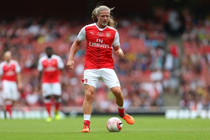 Emmanuel Petit lors du match Arsenal Legends contre Ac Milan Legends - Londres, septembre 2016